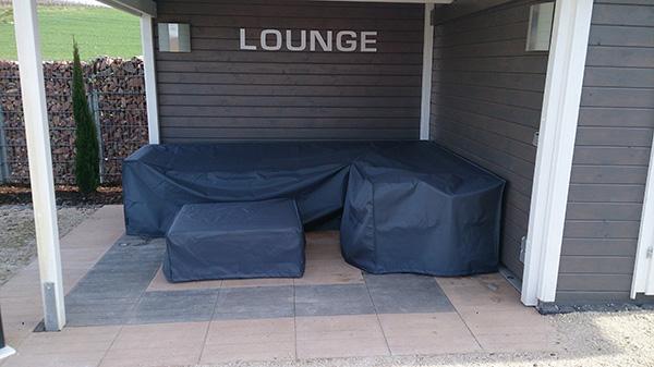 Loungeabdeckungen, Loungemöbel Schutzhülle Abdeckhaube Polster ~ 08034606_Schutzhülle Garten Lounge L Form