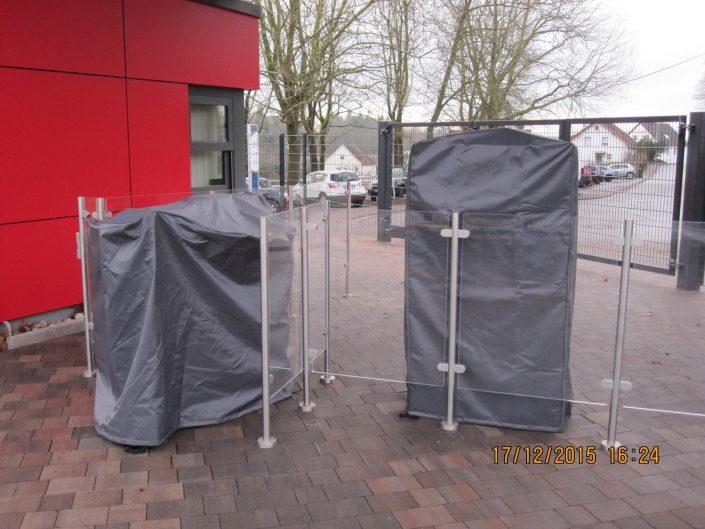 Drehkreuzabdeckung, Kassenautomat Schutzhülle