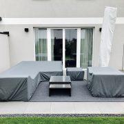Terrassenmöbel Abdeckung Maßanfertigung, auf Maß, Loungemöbel, Loungetisch, Loungesessel, Couch abdecken