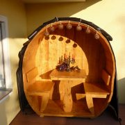 Weinfassabdeckung, Schutzhülle, Abdeckhaube Weinfass