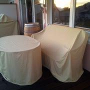 Terrassenmöbel Schutzhülle nach Maß, Maßanfertigung, Tisch, Bankabdeckung, ovaler Tisch Abdeckung