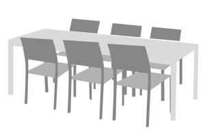 Tischgruppenabdeckung Maßanfertigung für inklusive Stühlen und Tisch
