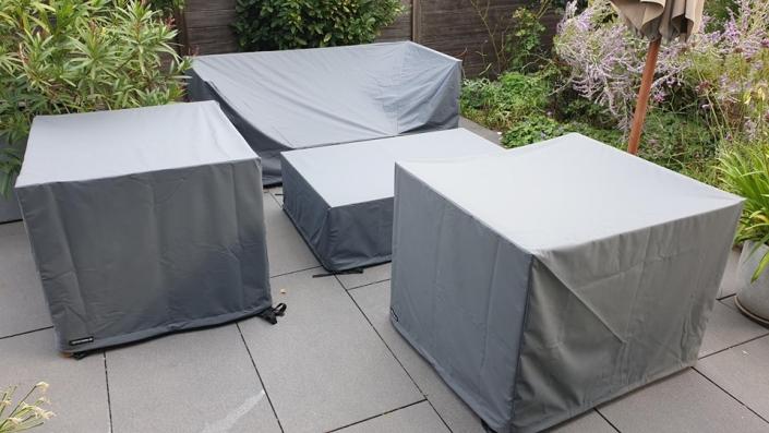 Terrassenmöbel abdecken inkl. Loungemöbel Tisch und Sessel