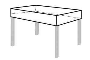 Tischplattenabeckung Maßanfertigung