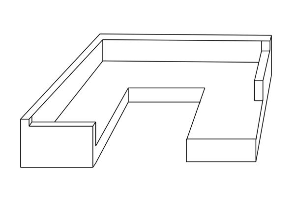 U-Lounge U-Form Abdeckung Schutzhülle Maßanfertigung